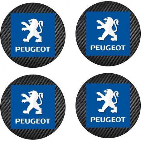 4 Stickers autocollant moyeu de jante Peugeot
