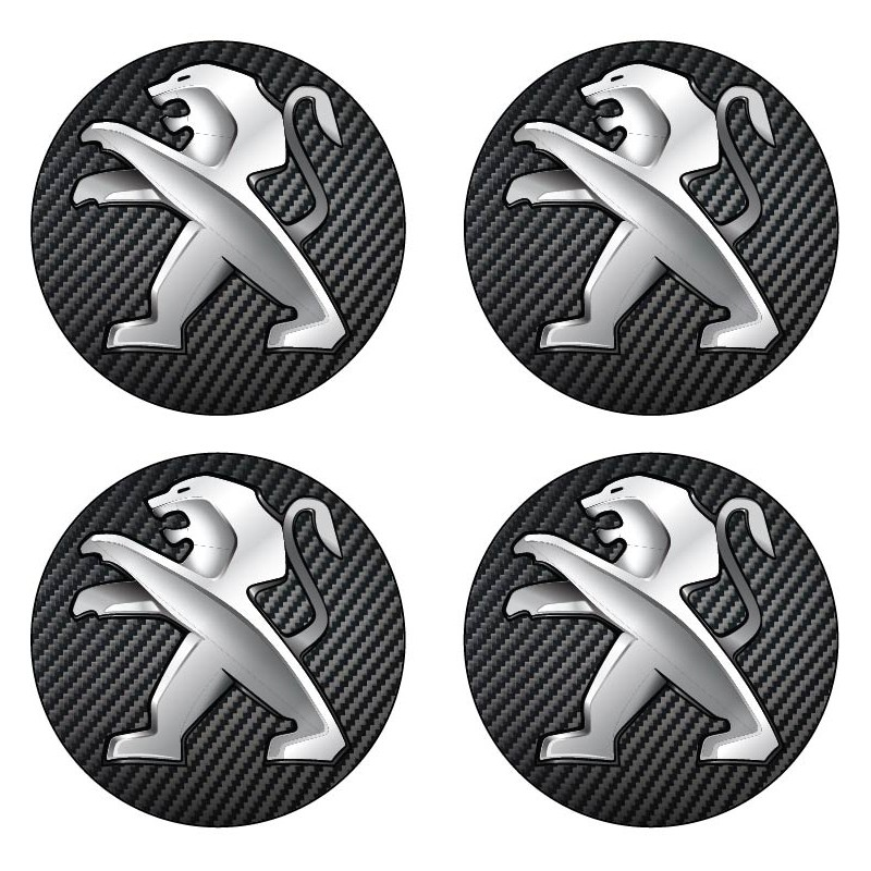 Stickers autocollant moyeu de jante Peugeot