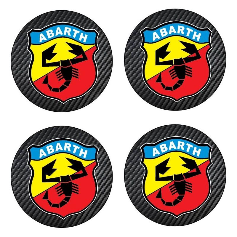 Stickers autocollant moyeu de jante Abarth