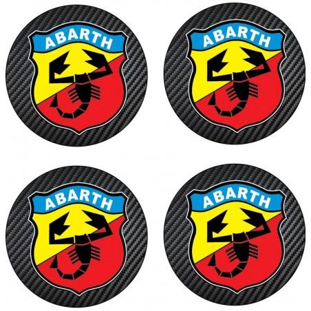 4 Stickers autocollant moyeu de jante Abarth