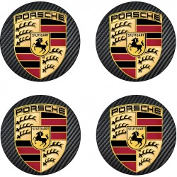 Stickers autocollant moyeu de jante Porsche
