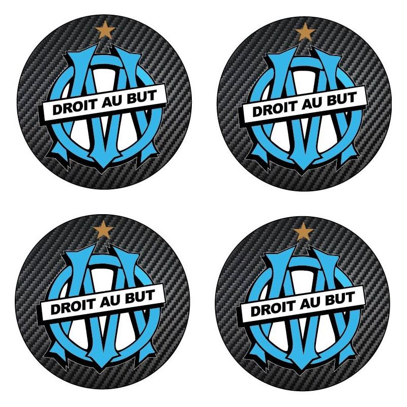 Stickers autocollant pour moyeu de jante OM Olympique de Marseille