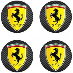 Stickers autocollant moyeu de jante Ferrari