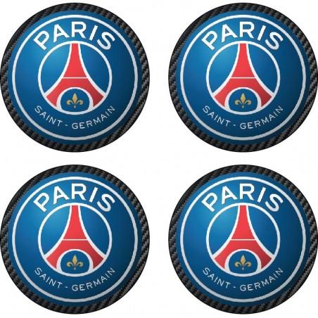 4 Stickers autocollant moyeu de jante PSG