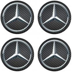Stickers autocollants moyeu de jante Mercedes