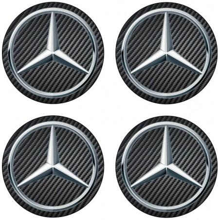 4 Stickers autocollants moyeu de jante Mercedes