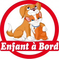 Stickers autocollants enfant a bord Chiens