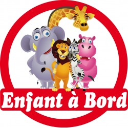 Stickers autocollants enfant a bord Animaux