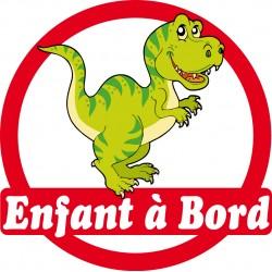 Stickers autocollants enfant a bord Dinosaure