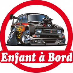 Stickers autocollants enfant a bord Voiture