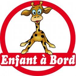 Stickers autocollants enfant a bord Girafe