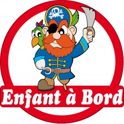 Stickers autocollants enfant a bord Pirate