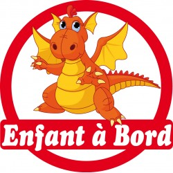 Stickers autocollants enfant a bord Dragon