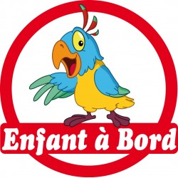 Stickers autocollants enfant a bord Perroquet
