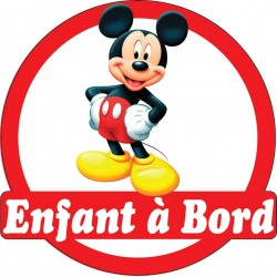 Stickers autocollants enfant a bord Mickey