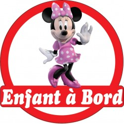 Stickers autocollants enfant a bord Minnie