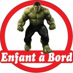 Stickers autocollants enfant a bord Hulk