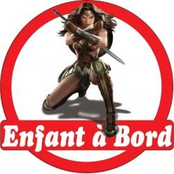 Stickers autocollants enfant a bord Wonder Woman