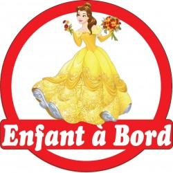 Stickers autocollants enfant a bord Princesse