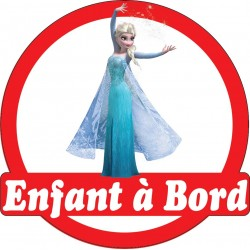 Stickers autocollants enfant a bord La reine des neiges