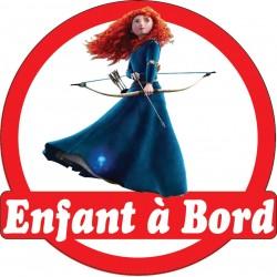 Stickers autocollants enfant a bord Belle