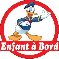 Stickers autocollants enfant a bord Donald
