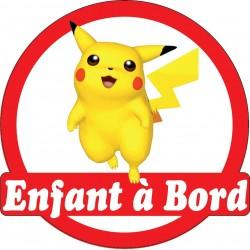 Stickers autocollants enfant a bord Pokemon Pikachou