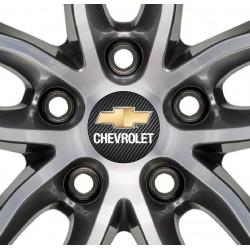 4 Stickers autocollants moyeu de jante Chevrolet