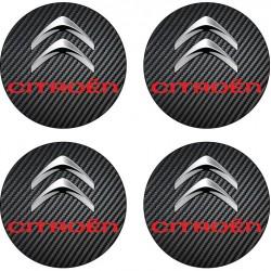 4 Stickers autocollants cache moyeu de jante Citroen