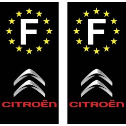 2 Stickers autocollant plaque d immatriculation Citroen