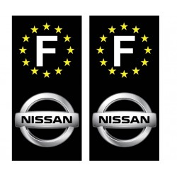 2 Stickers autocollant plaque d immatriculation Nissan
