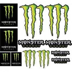 12 Stickers autocollants Moto Monster Energy