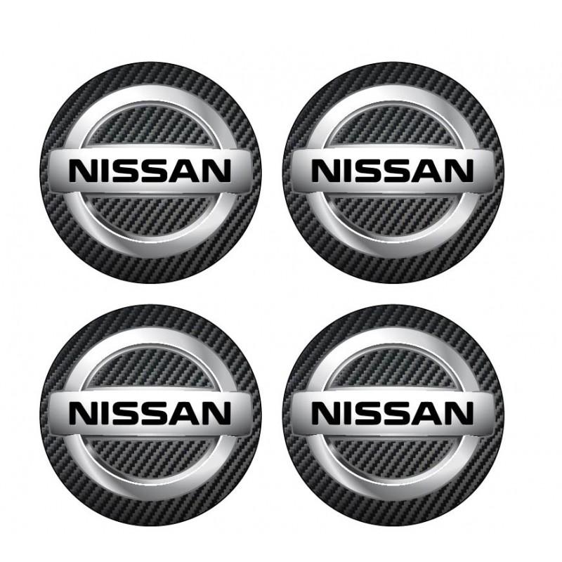 4 Stickers autocollants cache moyeu de jante Nissan