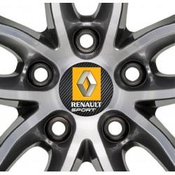 4 Stickers autocollants cache moyeu de jante Renault Sport