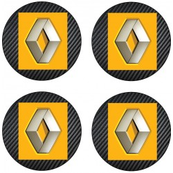 Stickers autocollants cache moyeu de jante Renault