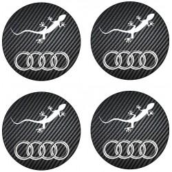 Stickers autocollants cache moyeu de jante Audi gecko