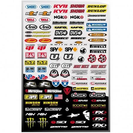 100 stickers autocollants Moto FX1