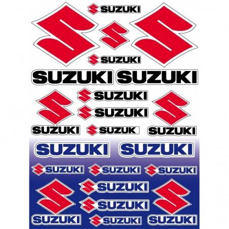 22 Stickers Autocollants moto Suzuki, sticker suzuki