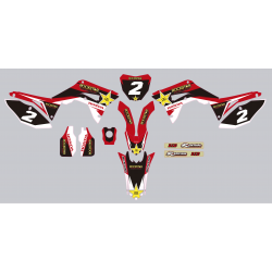 Kit deco Stickers autocollant Honda CRF 450 Rockstar energy