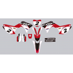 Kit deco Stickers autocollant Honda CRF 450