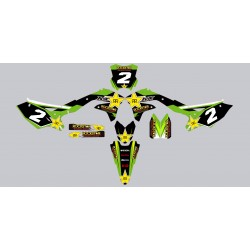 Kit deco Stickers autocollant Kawasaki KXF 450 Rockstar Energy
