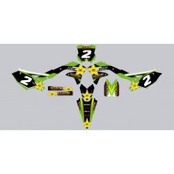 Kit deco Stickers autocollant Kawasaki KXF 450 Rockstar Energy