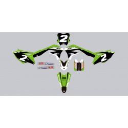 Kit deco Stickers autocollant Kawasaki KXF 450