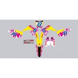 Stickers autocollant moto motocross MX Suzuki RMZ 250 année 2014-2016