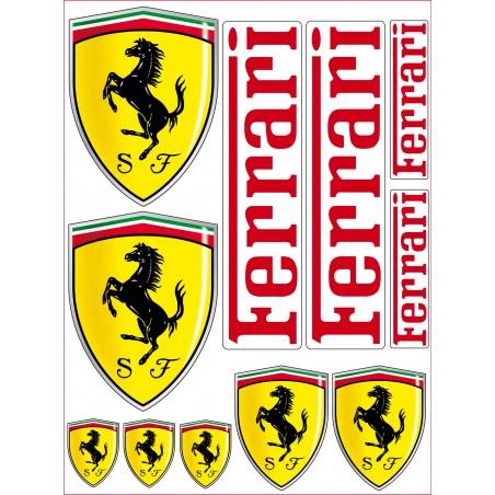 11 Stickers Autocollants Ferrari