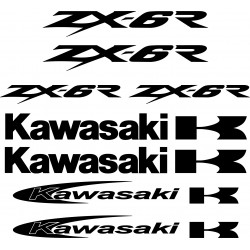 Stickers autocollants Kawasaki Zx6r