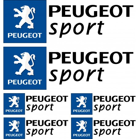 Stickers autocollants logo Peugeot sport Noir