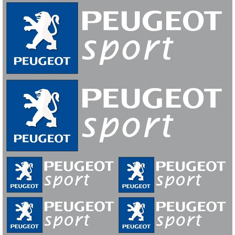 Stickers autocollants logo Peugeot sport blanc
