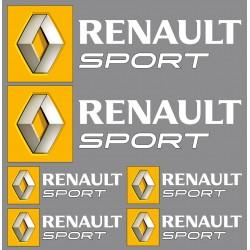 Stickers autocollants logo Renault sport blanc