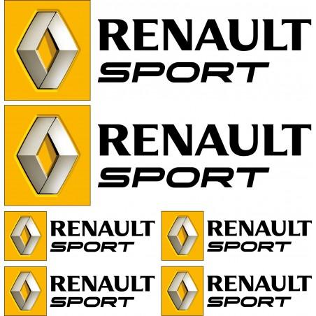 Stickers autocollants logo Renault sport Noir